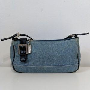 Stuart Weitzman denim shoulder bag purse